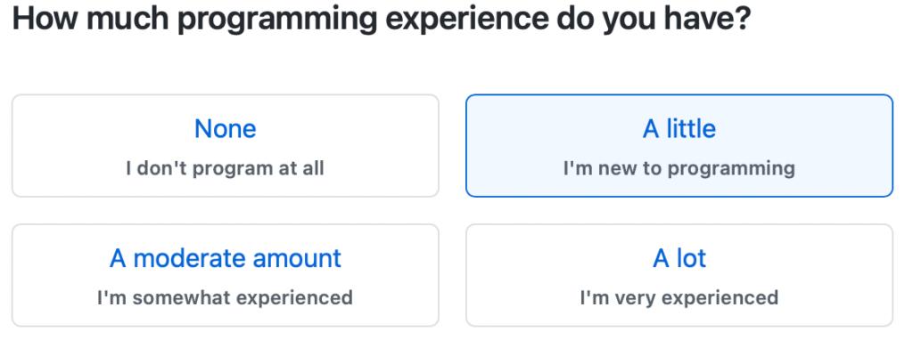 プログラミング経験