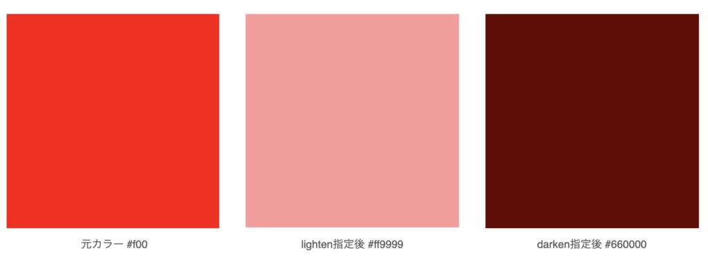 カラー明るさ変化