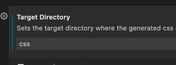 Target Directory設定画面