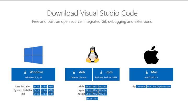 VScodeのダウンロード(OS選択)